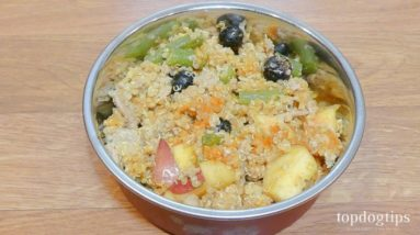 Quinoa and Blueberry Homemade Dog Food