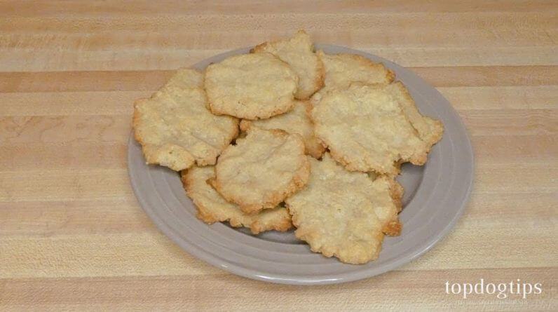 Peanut Butter and Cornmeal Dog Biscuits